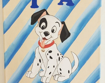 Disney 101 Dalmations Painting #1 - Customized Name