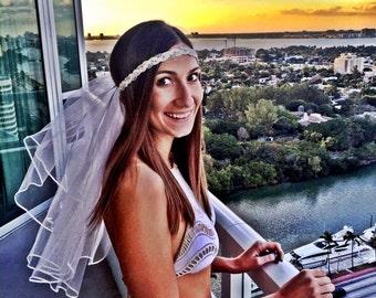 Boho/Beachy Bachelorette Veil; Bachelorette Party; Bride to be; Bride Tribe Veil