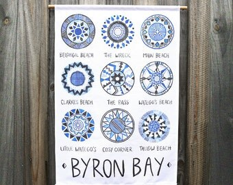 Byron Bay Wall Hanging Travel Art