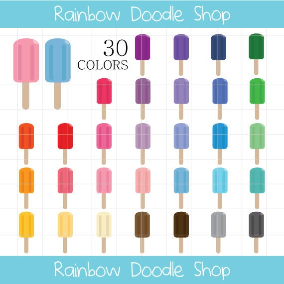 Colorful Popsicles Clipart | www.imgkid.com - The Image ...
