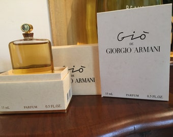 Hard to find Gio by G. Armani splash bottle extract 15 ml - 0.5 OZ FL Vintage 1992 absolutely new, never used