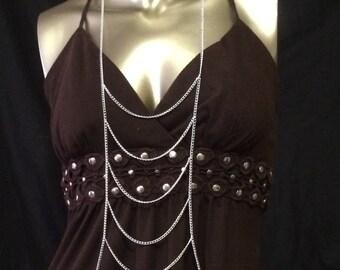 Body chain• silver• multi strand• body jewelry