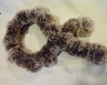 Vintage Rabbit Fur Scarf - Rich Genuine Fur - Beautiful Danier Scarf- Luxurious Gift for That Special Someone