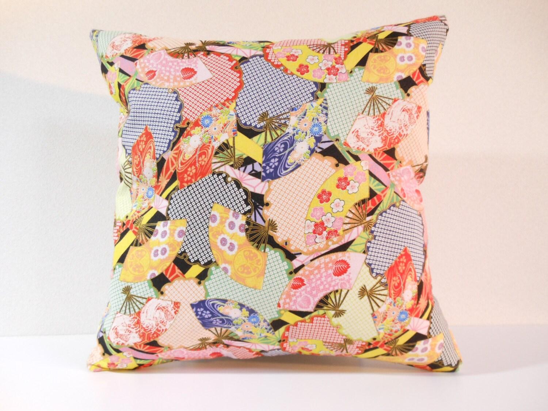 Japanese fabric pillow 036 decorative pillow 16x16 - Fabric for throw pillows ...