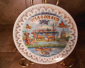 Wisconsin Collectible Plate
