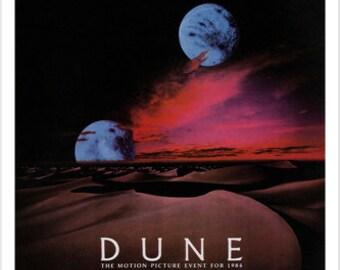 David Lynch's DUNE MOVIE POSTER Science Fiction Dreams Fantasy 24x36 New