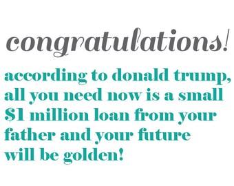 Donald Trump Graduation Card