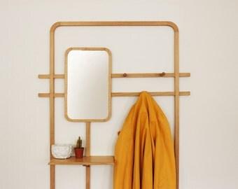 Door wall coat / / solid oak / / Design Epure / / woodworking