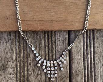 Sparkling Vintage Crystal Articulated Bridesmaid Necklace