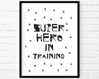 Super hero print