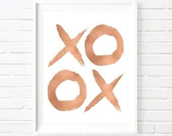XO gold print