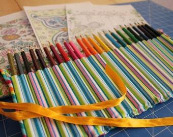 Pencil Roll for 24 pencils
