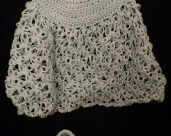 Baby Girl Solomon's knot Dress/ Matching booties