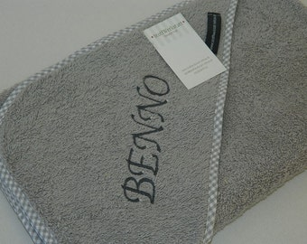 Towels hooded towel baby towel with hood hooded bath towel grey name your name