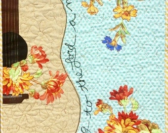 New Song Art Quilt pattern/guitar art quilt pattern/guitar pattern/music art quilt pattern