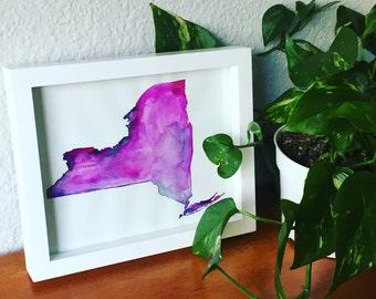 Custom New York State Painting