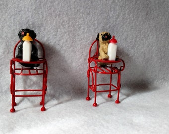Pugs In High Chair