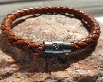 Braided Brown Leather Bracelet