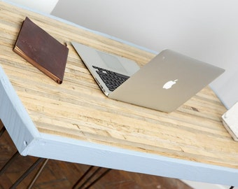 Dvegr Handmade Industrial Chic Reclaimed Wood Hairpin Leg Desk. Custom Made to Order.