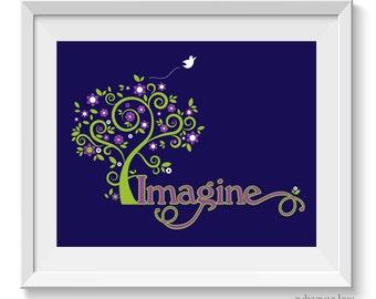 Imagine Art Print, Imagine Graphic, John Lennon