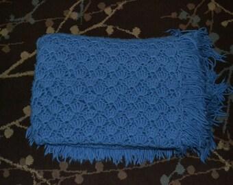 Vintage Blue Afghan