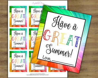Teacher Appreciation Tags; Have a Great Summer; Teacher Gift Tags; Teacher Gift Printables; Teacher Tags