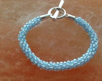 Blue shimmer Kumihimo bracelet