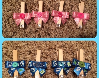 It's a GIRL! Or It's a BOY! Baby shower clothes pin clips