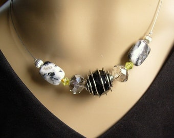 Necklace - Onyx in spiral - exclusive-