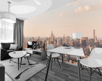 New York Skyline - Removable Fabric Wall Mural - Lots of sizes - DIY
