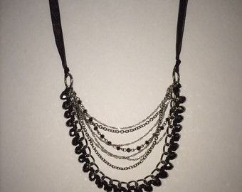 Ribbons and Chains Necklace