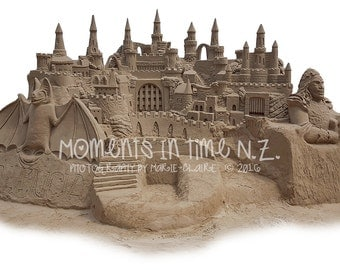 Moments In Time Sandcastle Digital Overlay