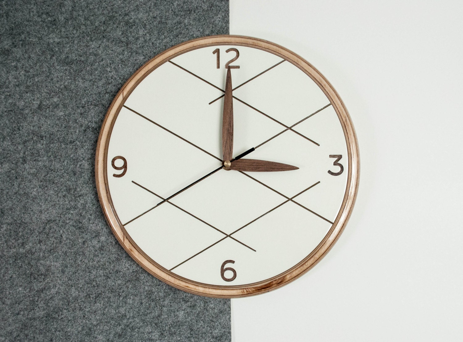 Wooden Wall Clock Unique Wall Clock Modern Wall Clock
