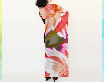 lilies long scarf