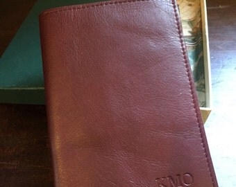 NOS never used Levenger maroon pocket briefcase planner organizer wallet with box****