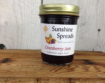 Cranberry Jam, 8 Ounce Jar