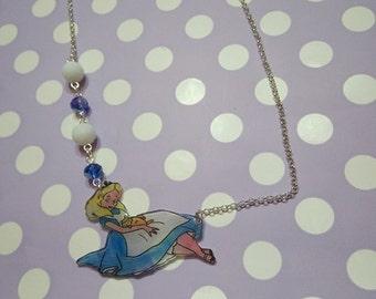 "Polyshrink necklace ""Alice in Wonderland"""