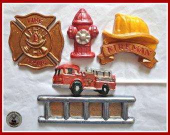 Chocolate Firefighter Gift/Fireman/Fire Engine/Fireman Hat/Fire Hydrant/Boys Birthday/Fireman Party/Fire Truck Lollipop/Fire Station