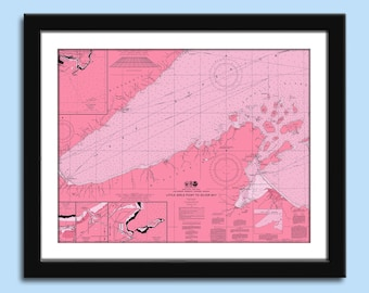 Lake Superior - Lake Superior Chart - Duluth MN - Nautical Chart Decor