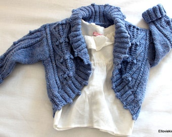 Queenies hand knit shrug