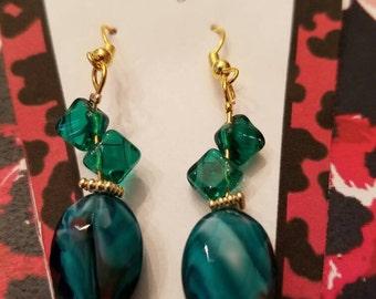 Bleu blue earrings