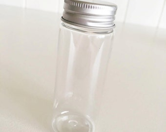 25 Plastic Bottles with Screw Cap 50ml / Favours / Food Packaging