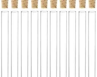 10 x 50ml Plastic Test Tubes With Corks / Party Favours