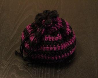 Crochet Drawstring Bag,Gift Bag, Dice Bag