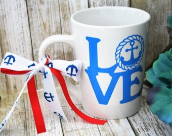 coffee mug, cute coffee mug, nautical coffee mug, gift for best friend, cute mugs, coffee cup, unique coffee mugs, coffee lover gift, mugs