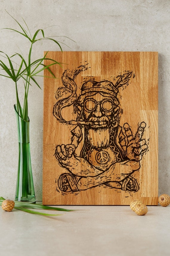 Hippie on board gift for him hippie style home decor for Hippie home decorations