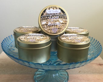 Luxe Living Soy Candle Tin