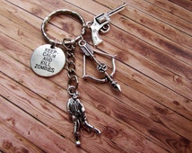 The Walking Dead Inspired Keychain - Fandom Jewelry - Birthday Gifts - Christmas Gifts - Charms - Zombies