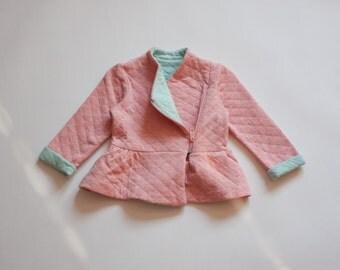 capiton salmon pink jacket with baska
