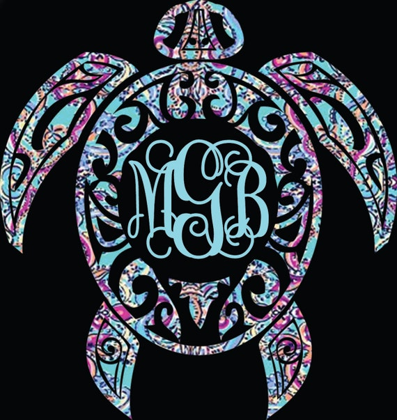 Download Sea turtle decal turtle monogram decal lilly by ...